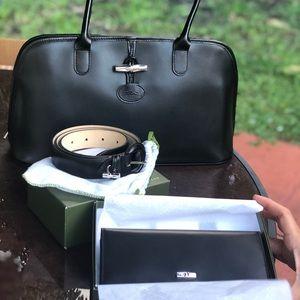 Longchamp belt, purse wallet